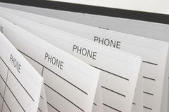 Address & Phone Book Stock Photography