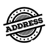 Address rubber stamp. Grunge design with dust scratches. Effects can be easily removed for a clean, crisp look. Color is easily changed royalty free stock image