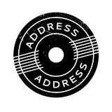 Address rubber stamp. Grunge design with dust scratches. Effects can be easily removed for a clean, crisp look. Color is easily changed royalty free stock photography