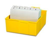 Address storage box Royalty Free Stock Photos