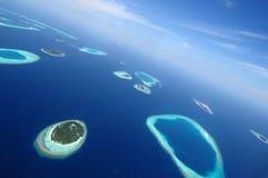 Addu环礁或Seenu环礁,南部马尔代夫海岛的多数环礁 库存图片