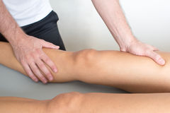 Adductor treatment Stock Image