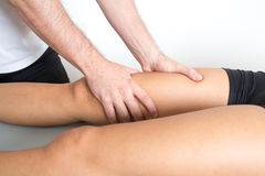 Adductor treatment Royalty Free Stock Photo