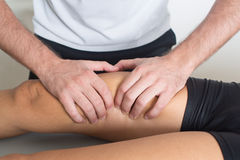 Adductor treatment Stock Photo