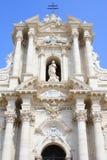 ade katedra fa Italy Syracuse fotografia stock