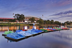ADE River Paddle Boats Stock Photo
