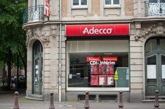 Adecco francuska Chwilowej pracy agencja Obraz Stock