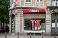 Adecco the french Temporary work agency. MULHOUSE - France - 9 May 2017 - Adecco the french Temporary work agency Stock Image