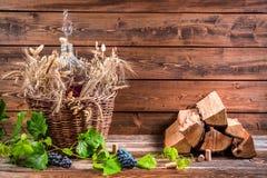Adega com o garrafão do vinho tinto Imagens de Stock Royalty Free
