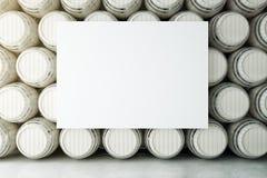 Adega com whiteboard ilustração stock