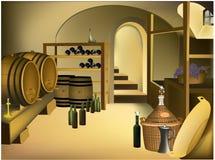 Adega de vinho ilustração royalty free