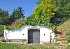 Adega de vinho típica, Burgenland, Áustria Imagens de Stock Royalty Free