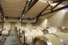 Adegas de vinho no ` Yquem do castelo d, França Foto de Stock