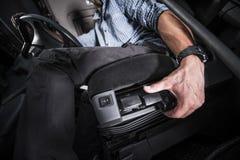 Adeguamento adeguato di Seat del veicolo Immagini Stock
