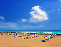 Adeje Beach Playa Las Americas in Tenerife Stock Images