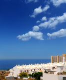 Adeje-Costaküste Paraiso in den Teneriffa-Weißhäusern Lizenzfreie Stockfotografie