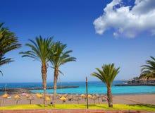 Adeje-Küste Las Amerika setzen in Süd-Teneriffa auf den Strand Lizenzfreie Stockbilder