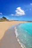 Adeje-Küste Las Amerika setzen in Süd-Teneriffa auf den Strand Stockbild