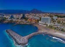Adeje-Küste, Vogelperspektive von Teneriffa, Kanarische Inseln Stockfotos