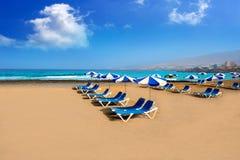 Adeje strand Playa Las Americas i Tenerife Fotografering för Bildbyråer