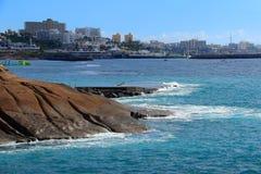 Adeje wybrzeże w Tenerife Zdjęcia Stock