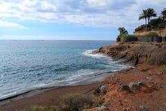 Adeje wybrzeże w Tenerife Obrazy Stock