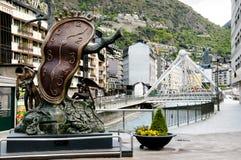 Adel der Zeit-Skulptur - Andorra Lizenzfreies Stockfoto