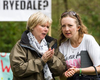 Adela Redston - anti--Fracking März - Malton - Ryedale - Nordy Lizenzfreie Stockfotografie