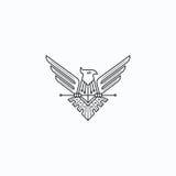 adelaars royalty-vrije illustratie