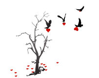 Adelaars die de harten van hartboom stoling vector illustratie