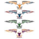 adelaars geplaatst vectorontwerpmalplaatje royalty-vrije illustratie