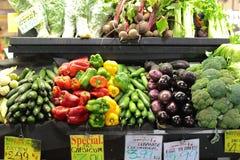 Adelaiaide-Markt-Gemüsestall lizenzfreie stockfotos