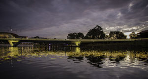 Adelaide - älterer Park - Abend Stockfoto