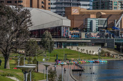 Adelaide 05. Adelaides Festival Theatre sits next to Elder Park and the River Torrens Royalty Free Stock Photos