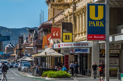Adelaide 02. Adelaides Rundle Street looking East Stock Image