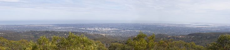 Adelaide aerial view. View from Mount Lofty, Adelaide, South Australia / Australia Stock Photography