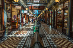 Adelaide Shopping Mall. Adelaide Arcade is a beautifuly restored historic building Royalty Free Stock Photo