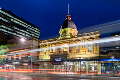 Adelaide Arcade building at night Stock Photos