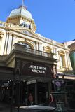 Adelaide Arcade in Adelaide, South Australia State Australia. Adelaide Arcade, a very popular local and tourist attraction in Adelaide, South Australia State stock photography