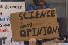 Climate Change - Ides of March 2019. Adelaide, AU - March 15, 2019: Thousands of students in Adelaide gather outside of Parliament House demanding action on royalty free stock photography