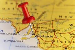 Adelaide Australia, kaart, huis van F1 Grand Prix Stock Afbeeldingen