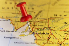 Adelaide Australia, map, home of F1 Grand Prix Stock Images