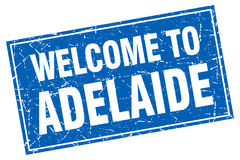 Adelaide blue square welcome to stamp Royalty Free Stock Image