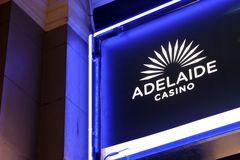 Adelaide Casino in Adelaide South Australia. Adelaide Casino. In 2007/2008, Adelaide Casino paid over $41 million in taxes and charges to the State and Federal royalty free stock photos
