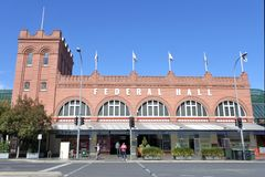 Adelaide Central Market in Adelaide South Australia. The Adelaide Central Market is one of Australia`s largest fresh produce markets providing a wide range of stock photo