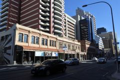 Adelaide City downtown cityscape South Australia. Adelaide City downtown cityscape. Adelaide is the capital city of South Australia royalty free stock photography