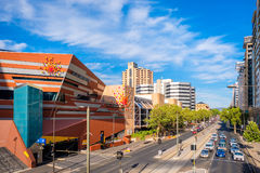 Adelaide city foot bridge and  InterContinental hotel Royalty Free Stock Photography