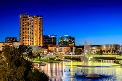 Adelaide city lights Royalty Free Stock Image