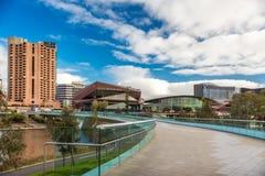 Adelaide City-Riverbankansicht Stockfoto