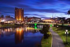 Adelaide City, Süd-Australien an der Dämmerung Lizenzfreie Stockfotografie